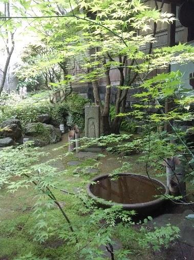 マリア観音様の祀られた裏庭
