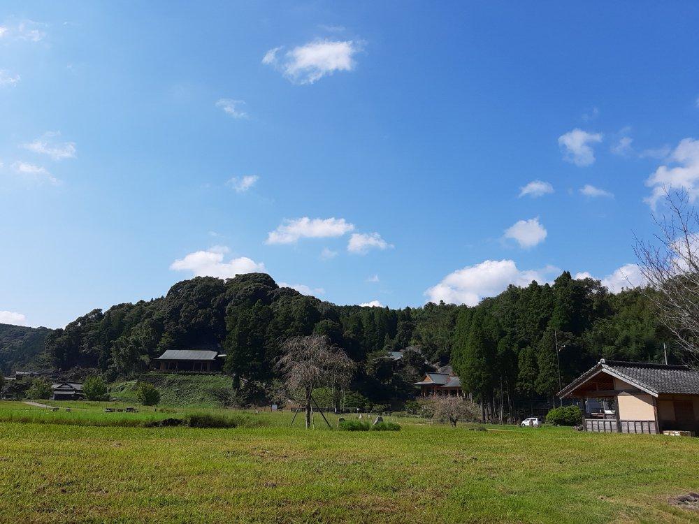 満月寺側から見る彼岸