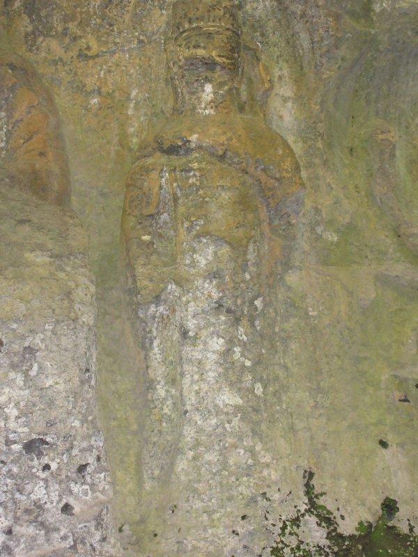 ホキ石仏第1群第1龕の観音菩薩像