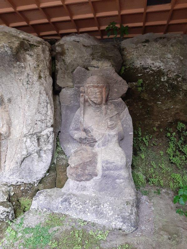 ホキ石仏第2群第2龕の不動明王